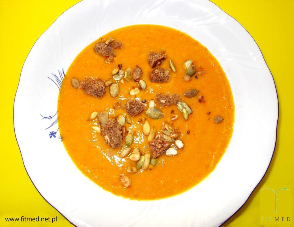 Zupa krem dyniowa z batatami